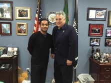 Sayem Sobhan Anvir with US Congressman Peter T. King