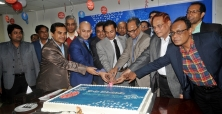 Sayem Sobhan Anvir Celebrating 5th anniversary of Kalerkantho by Cutting a Big Cake